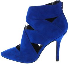 MIXI136 COBALT BLUE WOMEN'S HEEL FASHION WOVEN CUT OUT POINTED HEELS ONLY $10.88. All women's shoes, heels, wedges, sandals, and flats are $10.88 a pair.