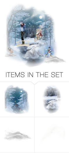 """Blue Winter"" by chileez ❤ liked on Polyvore featuring art"