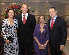 Patricia e Gustavo Lage, Denise e Ricardo Santiago