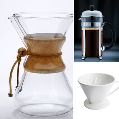 i have my eyes on the Chemex Handblown Glass coffeemaker