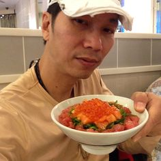 With Japanese food in NW Thailand   It is so good