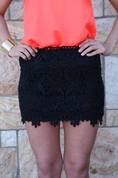 Black Lace Skirt #crochet