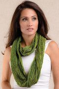 Artistically Handwoven Wool/Silk Infinity Scarf - Color Chartreuse Choice of 9 Colors