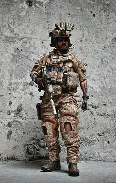 """Navy Seal.... {I know that I have added this before, but He has SO MUCH AWESOME GEAR, that I just had to Pin it again....I Dream Of Being Able To Wear This Kind Of Gear Again!!! I was not a Navy Seal, but was in another U.S. Miltary Branch, using Gear/Tools much like this!! Man Oh Man, I REALLY MISS being in The Army!! What I would give to just be able to have """"Another Day At The Office""""....Actually I would Prefer A Few More Years Of Military Life!!!}"""
