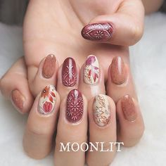 MOONLIT Shoko ☾(@moonlit_shoko)• Instagram 相片與影片 Nail Designs Spring, Gel Nail Designs, Cute Nails, Pretty Nails, Witch Nails, Different Nail Shapes, Pastel Nails, Stylish Nails, Creative Nails