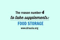 Picture drsuciu Reason number 5 to take supplements Number 5, 13 Reasons, Blog
