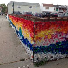 creating art, recycling, and making a statement, all at the same time: mural…