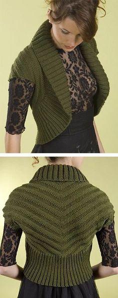 Shrug And Bolero Knitting Patterns Knitting Pinterest Croch