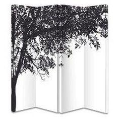 Trees 4 Panel Screen