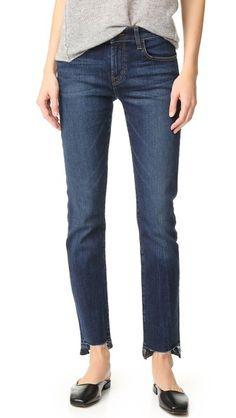 J Brand   Amelia Straight Step Fray Jeans in mesmeric