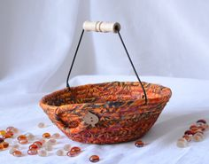Wexford Treasures: Indian Corn Bowl ...I Handmade this lovely Fall Mosaic Basket by WexfordTreasures