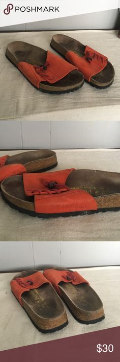 Papillio by Birkenstock orange sandals 39 or women's 8 gently used condition see pic. Birkenstock Shoes Sandals