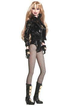 Well, she only LOOKS like a badass rocker chick ... Black Canary Barbie® Doll | Barbie Collector - DC comics Barbie