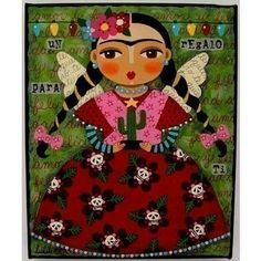 All of Frida Kahlo Paintings | frida kahlo cactus fiesta 8x10 print of folk art collage painting by ...