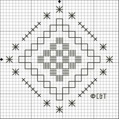 hardanger embroidery free patterns   Free Hardanger Steps and Stars Pattern - Free Printable Hardanger ...