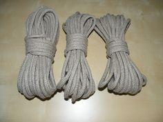 Hanf Seil Geflochten Set , 6 mm Durchm - 22 Meter, Unbehandelt 0,81€/m neu