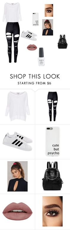 """Anna"" by nat-napo on Polyvore featuring Lisa Todd, WithChic, adidas and NA-KD"