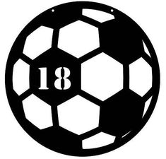 Clip Art Soccer Ball With Hi Lights Graphic Design