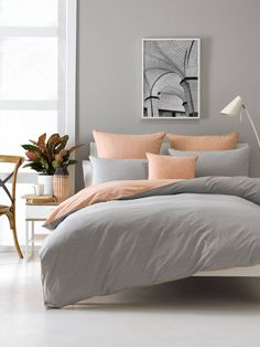 DOONA COVERS BECK PEACH SINGLE QUILT COVER SETS