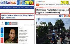 DULU Ahok Usul Gubernur Jangan Dikawal SEKARANG Ahok Dikawal Polisi Bersenjata  JAKARTA KOMPAS.com  Gubernur DKI Jakarta Basuki Tjahaja Purnama atau Ahok tampak dikawal puluhan polisi bersenjata yang menggunakan sepeda motor saat meninggalkan Pasar Kebon Bawang Tanjung Priok Jakarta Utara Selasa (13/9/2016) seusai meresmikan pasar tersebut. Tampak dua personel kepolisian berboncengan dalam satu motor. Personel yang dibonceng terlihat menenteng senjata laras panjang. Personel kepolisian…