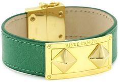 Vince Camuto Emerald and Gold Pyramid Plate Bracelet Vince Camuto. $42.00. Made in China