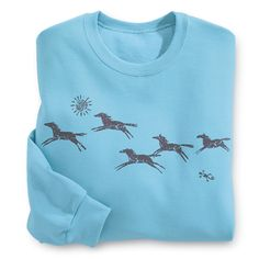 $34.95 - Sun Horses Sweatshirt - Western Wear, Equestrian Inspired Clothing, Jewelry, Home Décor, Gifts