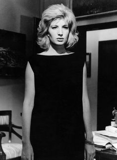 Film still of Monica Vitti from L'Eclisse d. Michelangelo Antonioni (1962)