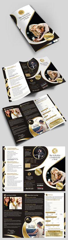 music brochure, tri fold brochure, creative brochure, best brochure