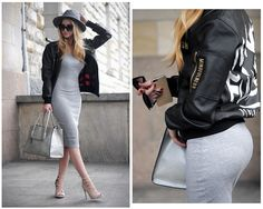 More looks by Endzel: http://lb.nu/endzel #chic #classic #street #dress #like #grey #simmishoes #bomber #jacket