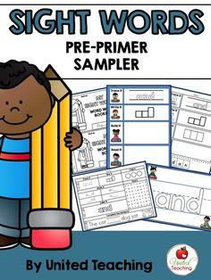 Most Popular Teaching Resources: Sight Words Pre-Primer Sampler
