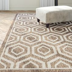 Langley Street Miami Brown/Tan Indoor/Outdoor Area Rug Rug Size: Rectangle x Wicker Armchair, Tan Rug, Interior Rugs, Indoor Outdoor Area Rugs, Outdoor Spaces, Tans, Rustic Design, Beige Area Rugs, Rug Size