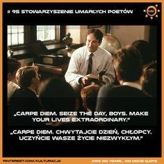 100 najlepszych cytatów filmowych według Amerykańskiego Instytutu Filmowego. Miejsce 95 - Stowarzyszenie Umarłych Poetów.