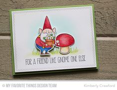 You Gnome Me, Inside & Out Diagonal Stitched Rectangle STAX Die-namics, You Gnome Me Die-namics - Kimberly Crawford  #mftstamps
