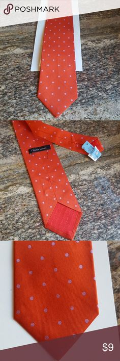 👔MEN'S  TIE👔 Perfectly looking - vintage CHRISTIAN LACROIX tie  Dry-cleaned no stains  Red with small light blue polka dots Christian Lacroix Accessories Ties