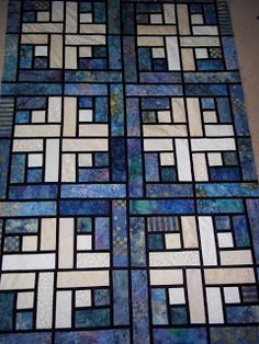 Stained Glass Log Cabin Quilt Pattern