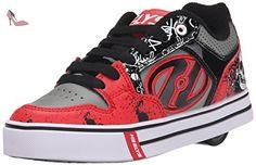 Heelys Motion Plus, Chaussures de tennis garçon, Rouge (Red / Black Grey Skulls), 34 EU - Chaussures heelys (*Partner-Link)