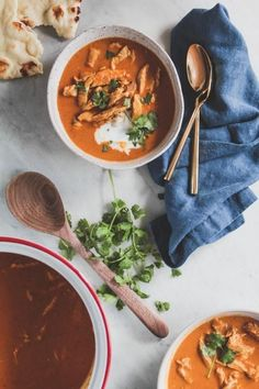 Inspired by the classic Indian dish, this Tikka Masala Soup is creamy, hearty and warm on a winter evening.