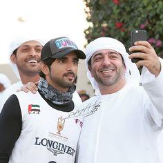 1/10/15 Sheikh Hamdan in the Sheikh Mohammed bin Rashid Al Maktoum Endurance Race 160 km PHOTO:  khalidaldarae with Khalifa Khouri
