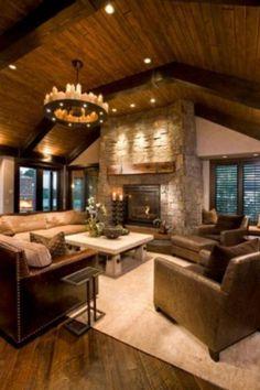 Fabulous Home Interior Cabin Style Design Ideas & 40 Ideas