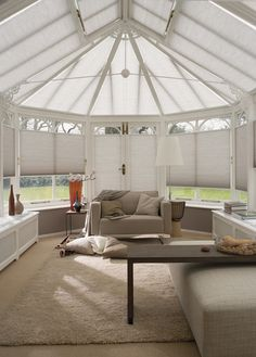 These Luxaflex® blinds are a great choice for climate control and sun protection in conservatories.