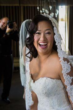 A very happy bride! Wedding photography. http://www.photographytalk.com/