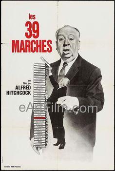 Happy Birthday #CharlesBennett #writer #writing #screenwriter #Hitchcock #TheManWhoKnewTooMuch #ForeignCorrespondent https://eartfilm.com/products/39-steps-r1960s-31x47-french-half-grande-alfred-hitchcock  39 Steps R1960s 31x47 French Half Grande Alfred Hitchcock