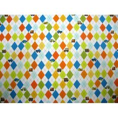 SheetWorld Fitted Crib / Toddler Sheet - Argyle White Transport