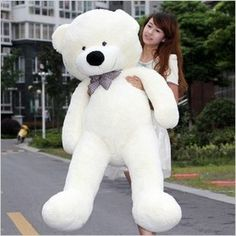 You can find soft teddy bears for babies as well as soft teddy bears in general. They are cute and cuddly. Find a big white teddy bear online today.