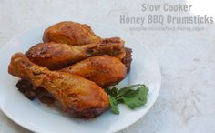 Slow Cooker Honey BBQ Drumsticks