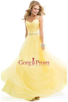 87018125fd comprar 2015 gran vta liquidación baile vestidos tul vestido bola con  jeweled correas amarillas espalda abierta 56625 baratos en línea