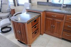 Pull out counter and storage from an RV can be adapted to a Tiny House