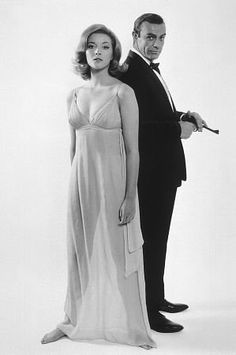 Sean Connery & Daniela Bianchi in FROM RUSSIA WITH LOVE. IMHO the best Bond film yet made.