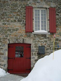 Quebec City, Canada - Red Doors photo by mcgalio, via Flickr