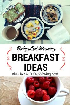 Awesome Baby-Led Weaning Breakfast Ideas for 7+ months. Healthy & Easy!